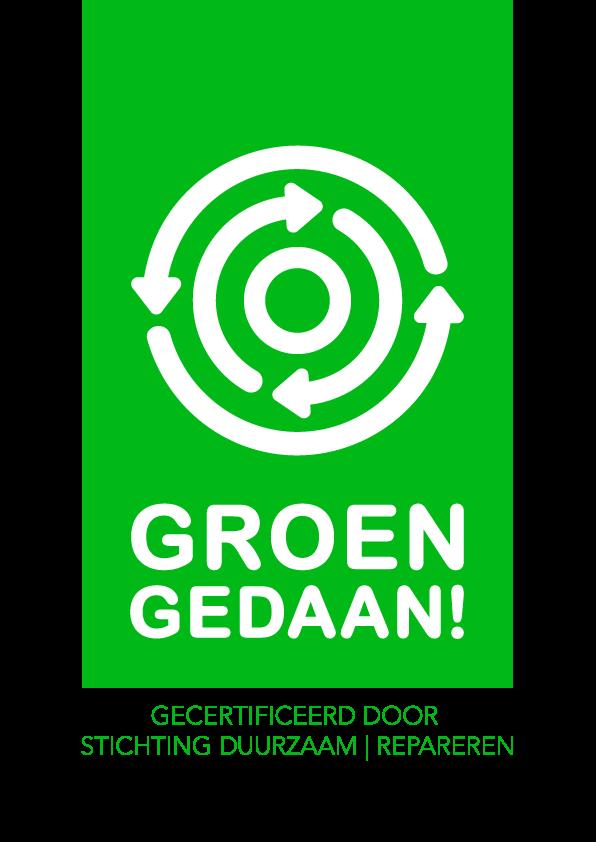 duurzame reparatie uitdeuken zonder spuiten groen gedaan